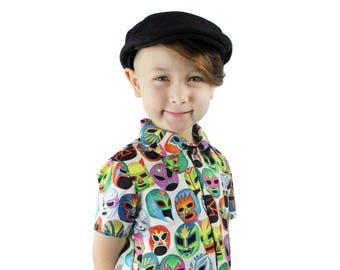 Boy's Lucha Libre Masks Snap Top