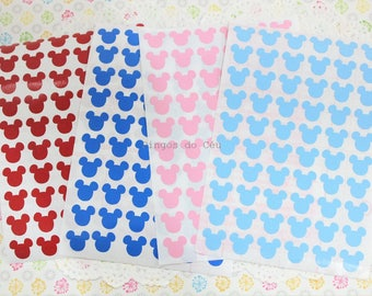 120 pcs - 0.50'' Mickey Stickers - Disney Planner - Bullet Journal - Birthday - Party - Goodie Bag Stickers -  1.2 cms - Made to Order