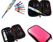 Interchangeable Crochet Hook Set, with Case, Colorful Woodland, Fox