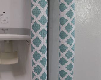 Handle Coves for Refrigerator-Set of 2-White and Powder Blue