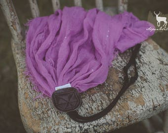 Orchid Sparkle Scarf Camera Strap