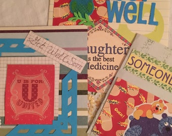 """Greeting cards: Get Well Soon. 6""""x6"""". Come with envelopes . 2.00 each or a baker's dozen(13) for 20.00. Some are 3D."""