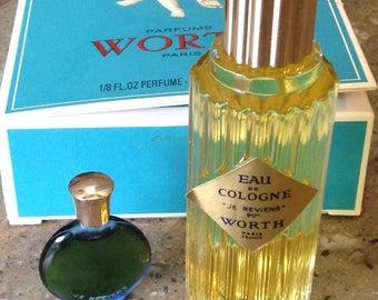 JE Reviens Perfume Worth Paris in Original Box Vintage Vanity