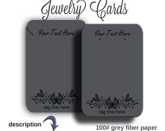 Jewelry Display Cards /  Packaging /  Earring Cards /  Necklace Cards /  100 Pound Grey Fiber Paper, Earring Holder