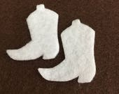 Cowboy Boots Mini Felt Shapes -DIY Kits for Independent Consultants-Western Parties-Rodeo Decorations-Bible Journal-Planner Embellishments