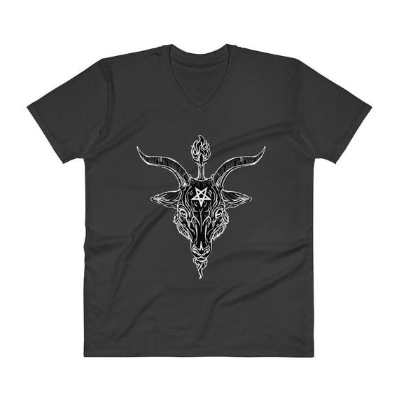Baphomet Black Phillip V-Neck T-Shirt