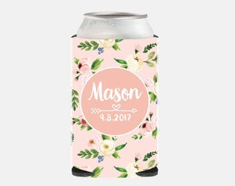 Rustic Wedding Favors For Guests Pink Wedding Favors Rustic Wedding Party Favors Personalized Can Coolers Floral Wedding Favors UZ