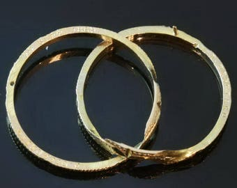 Antique Wedding Band double yellow gold ring Size US 12 19th century c.1860
