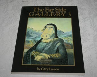 "Vintage Large Soft Cover Book "" The Far Side Gallery 3 "" By Gary Larson 1988"