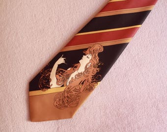 Unique Alphonse Mucha Art Print Necktie