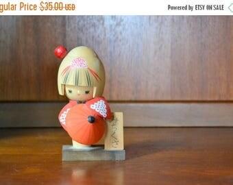 SALE 25% OFF vintage japanese kokeshi doll / handmade vintage / vintage doll