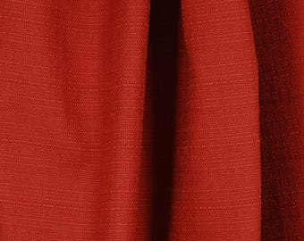Brick Red Textured Fabric