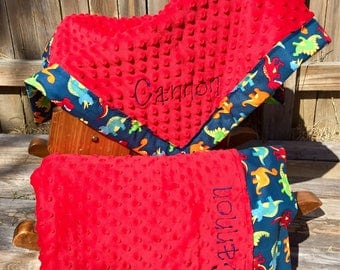 Personalized Minky Blanket and Personalized Pillowcase
