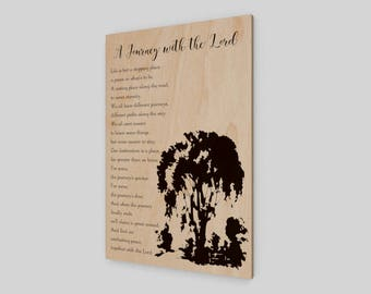 A Journey with the Lord, Wood Print, Sympathy, Grief, Loss, Heaven, Wood Sign, Sympathy Gift, Beautiful saying, Rustic Wood Sign, Comfort
