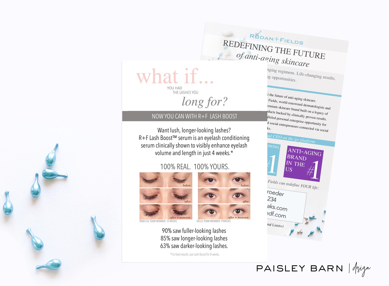 Lash Boost Marketing CARDS 5x7 Skincare business