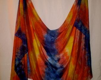 Hand-dyed in U.S. silk belly dance veil