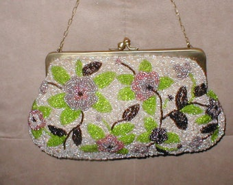 RARE Antique Beaded Evening Purse by Pierre Urbach