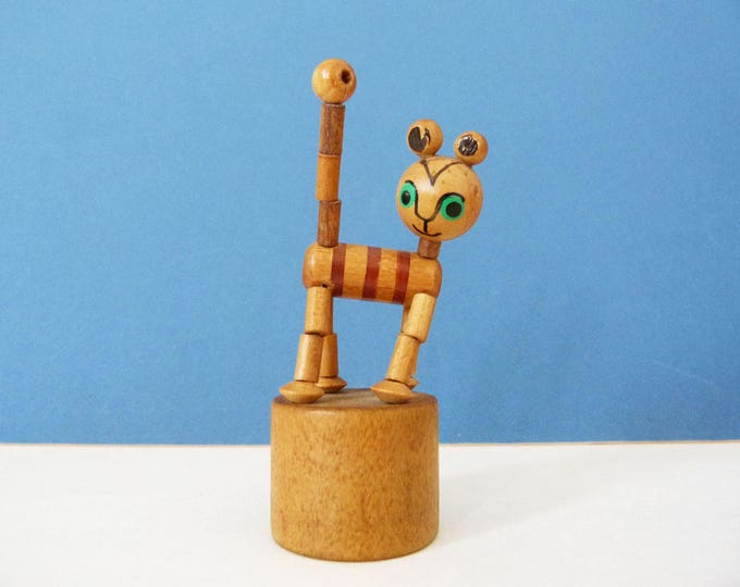wooden collapsing toy cat push highly collectable