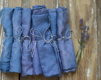 blue-violet naturally dyed playsilk