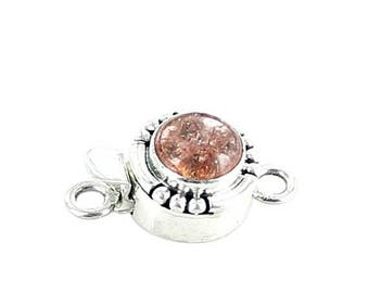 Summer Sale : ) SUNSTONE CLASP STERLING Round 8mm NewWorldGems