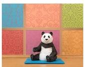 FALL SALE Yoga studio animal pose art print: Panda Posing