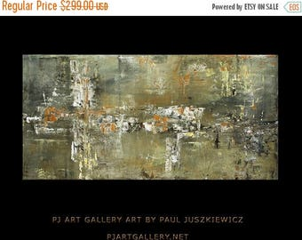 17% OFF /ONE WEEK Only/ The Impact I abstract knife by Paul Juszkiewicz 48X24 texture gray