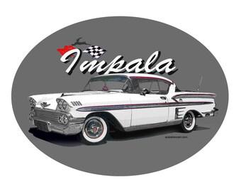T-Shirt 1958 Chevy Impala