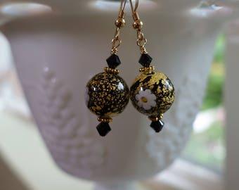 Venetian Glass Millefiori 14K Gold Filled Earrings