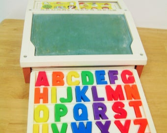 Vintage Fisher Price School Days Desk