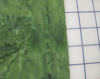 Batik medium green  fat quarter