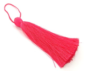 Fuschia Tassel , Large Thick 113 mm - 4.4 inches G8310