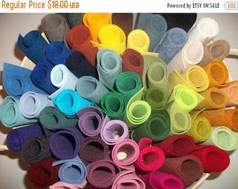 ON SALE Wool Felt  sheets pack of 20 any colors 9 x 12