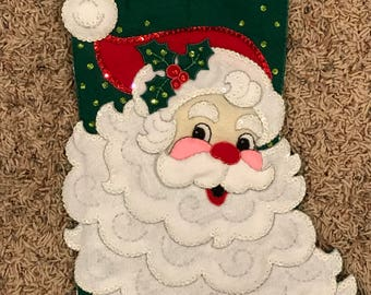 Handmade Santa Christmas Stocking