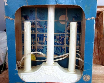 Timco Three Light Electric Window Candolier with Original Box