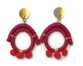 Red and Pink statement earrings