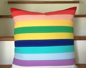 rainbow stripes - pillow cover
