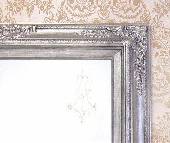 Brushed Nickel Accents Bathroom Mirror Framed Baroque Vanity