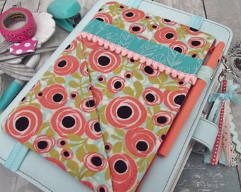 Dollbirdies Journal/Planner Pocket Pouch, Journal/Planner Accessory, Pen and Pencil Case, Zipper Pouch, Stationery Supplies