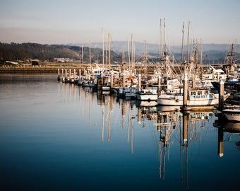 Beach House Art, Harbor, Farmhouse Art, Beach Art, Summer, Boats, Boat Art, Farmhouse, Ocean, Beach, Seaside, Harbor, Half Moon Bay