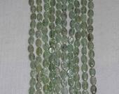 Kyanite, Green Kyanite, Kyanite Oval Bead, Green Oval Bead, Natural Stone, Semi Precious, Gemstone Bead, Grade A, Strand, 11-12mm