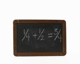 Vintage Writing Slate, Double Sided Chalkboard, Primitive Country Decor, Antique Slate Chalkboard