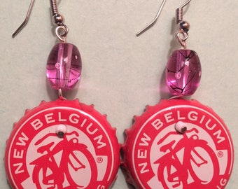 Cosmic Caps / New Belgium Beer Cap Earrings