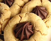 Peanut Butter Cookies, PB Blossoms, Homemade Cookie, Party Favor, Bakery, Edible Gifts, Birthday Gift, Wedding, Baked Goods, 1 DOZEN