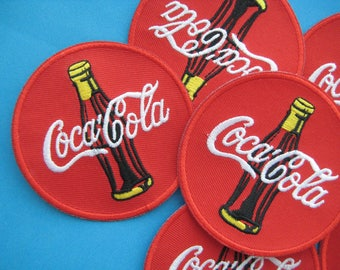 Clearance~ 6 pcs Iron-on embroidered Patch Coke 3 inch