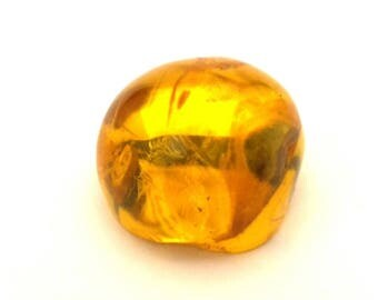 Amber Baltic Stone Antique Genuine Natural 4.84 Gr.Honey Color (QF420)