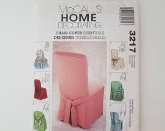 Uncut- McCalls 3217 , Home Decorating Chair Cover