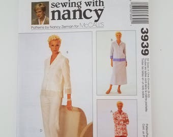 Uncut- MiCalls 3939 Sewing with Nancy, Jacket, skirt and pants, ALL Sizes