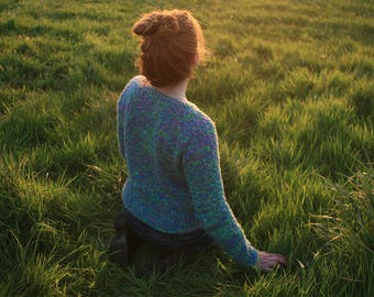 Top of the morning ~ knitting pattern ~ linen cotton summer top for women
