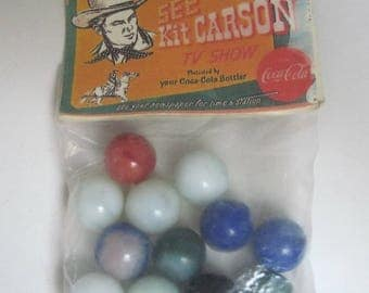 Vintage 1950s Kit Carson Marbles from Coca Cola