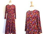 Vintage Boho Dress - 80s ...